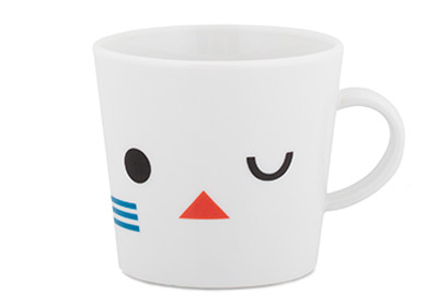 Bauhaus-inspired mugs and bowls for kids by Darling Clementine
