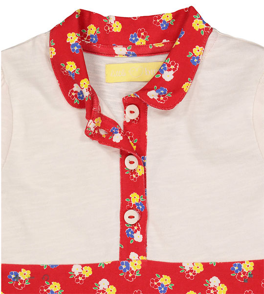 1970s-style floral shirt dress by Little Bird