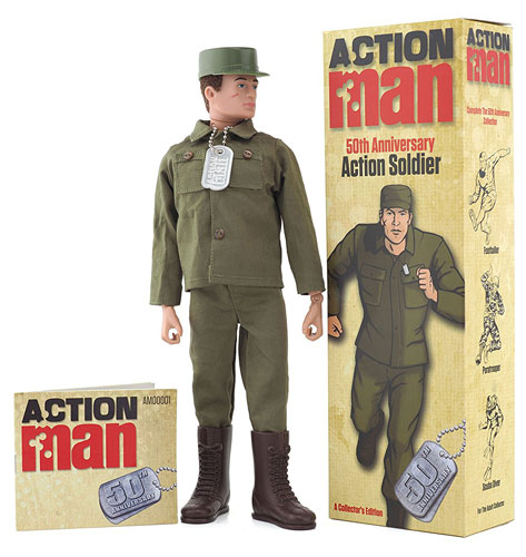 Going old school: 50th anniversary Action Man figures