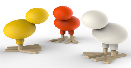 Eero Aarnio-designed Happy Bird for Magis