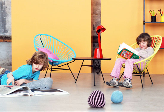 Mini Acapulco Children's armchair by OK Design pour Sentou Edition
