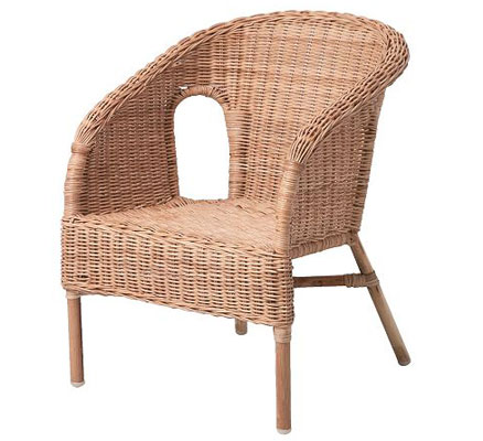 Agen rattan chair for kids at ikea junior hipster for Chaise junior ikea