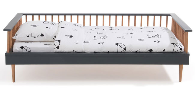 Alfi midcentury modern bench bed at La Redoute