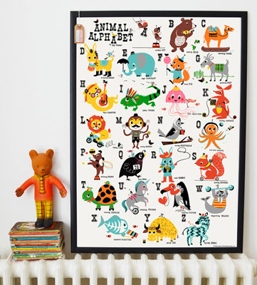 Vintage-style Animal Alphabet print by Kay Vincent