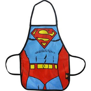 Children's PVC aprons with Superman, Batman and Darth Vader designs