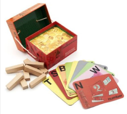 Architectural A-Z Flash Cards and Wooden Blocks