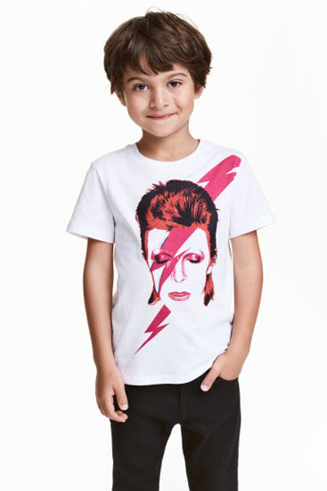 David Bowie Aladdin Sane t-shirt for kids at H&M