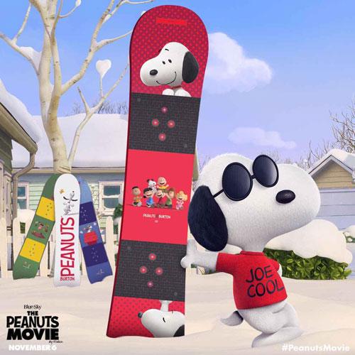 Burton x Peanuts snowboard range