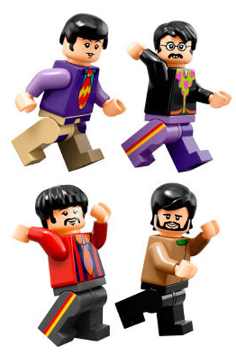 Beatles Yellow Submarine and figures heads to Lego