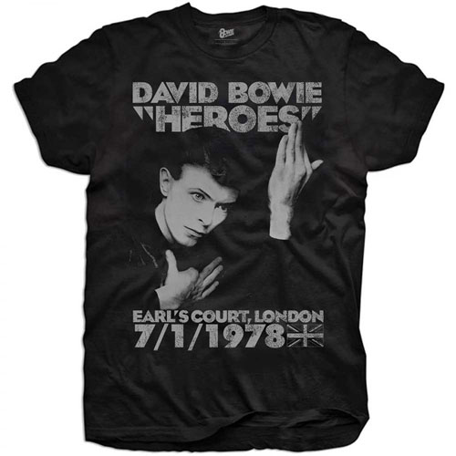 David Bowie official t-shirts for youths