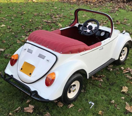 Vintage motorised Volkswagen Beetle car for kids