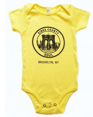 Kings County Soul and Daptone Logo babygrows