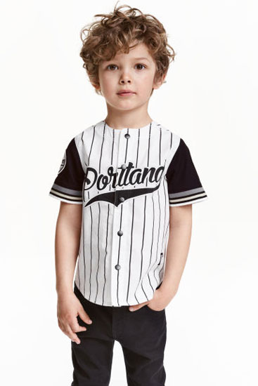 Classic baseball shirt for kids at H&M