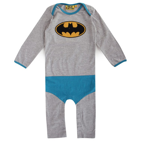 Batman and Robin footless baby grows by Fabric Flavours