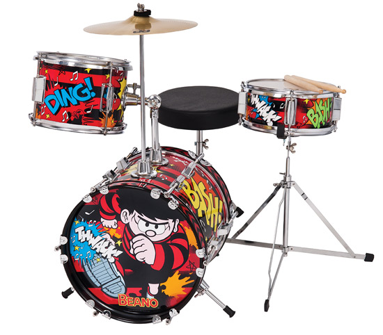 The Beano-themed drum kit for kids