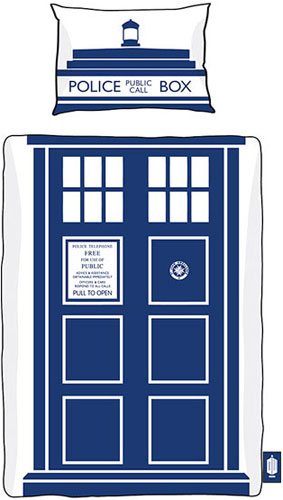 Doctor Who Tardis duvet and pillowcase set