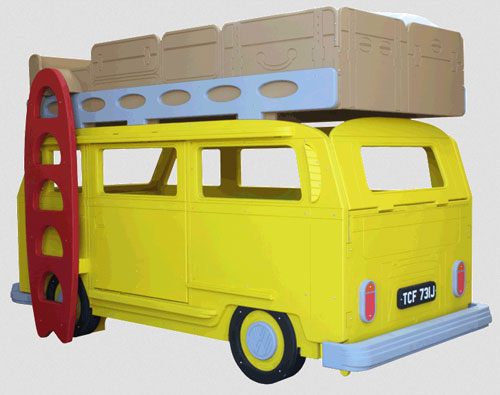 Vw camper bed at fun furniture collection junior hipster - Cheap hipster furniture ...