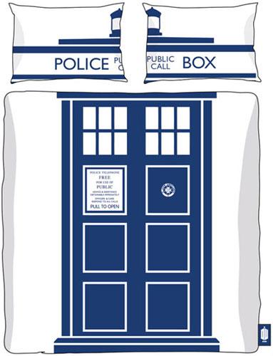 Doctor Who Tardis duvet and pillowcase set