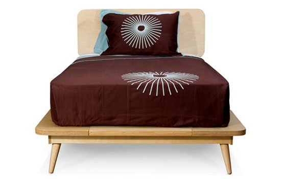 TruModern midcentury-style 11-ply single bed for kids