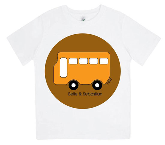 Indie kids: Belle and Sebastian kids' bus t-shirt