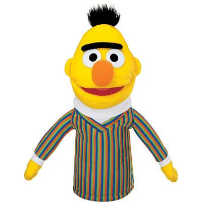 Gund Bert and Ernie Sesame Street puppets