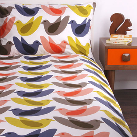 Orla Kiely Birdwatch duvet set for children