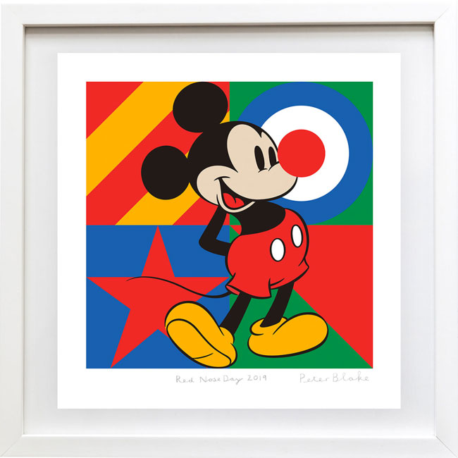 Sir Peter Blake limited edition Red Nose Day 2019 print