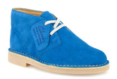 Clarks Originals desert boots for boys in cobalt blue