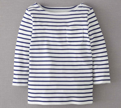 Breton-style Stripy Boat Neck Top at Boden