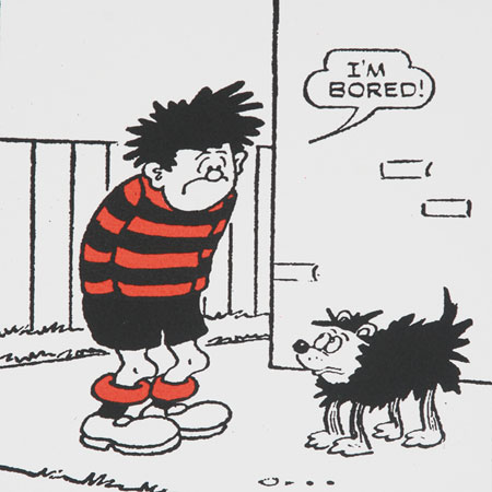 Limited edition Dennis The Menace I'm Bored screenprint