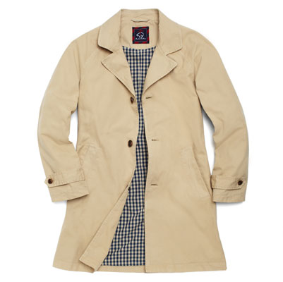 Brooks Brothers canvas mac coat