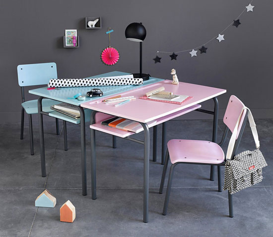 Vintage-style Bureau desk for kids at La Redoute