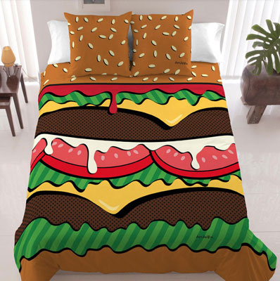 David Elfin Burger bedding at Fab