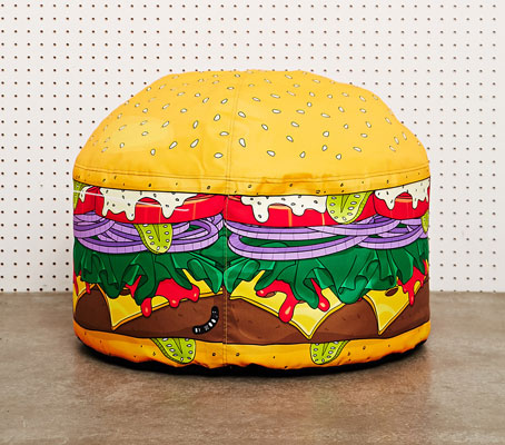 Woouf Mini Burger Floor Cushion