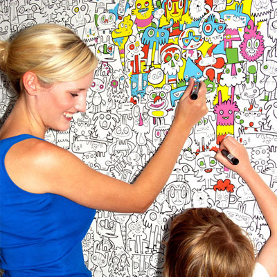 Colour In Wallpaper by Jon Burgerman