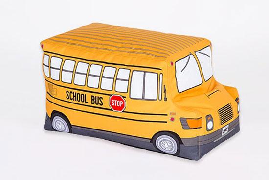School Bus bean bag for kids by Woouf