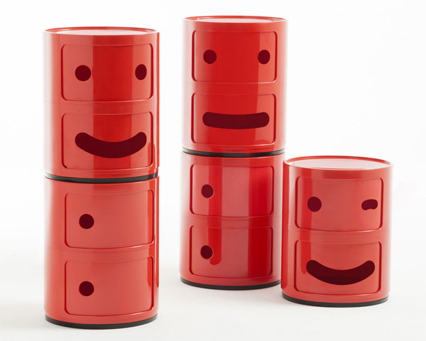 1960s Kartell Componibili storage units get a Smile makeover