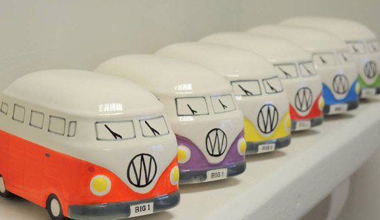 Ceramic Camper Van Moneybox