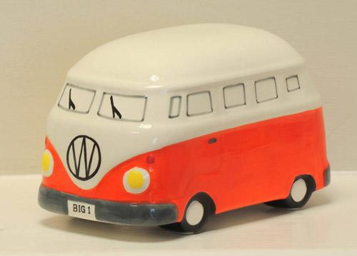 Ceramic Camper Van Moneybox