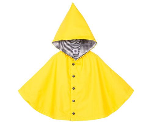 Unisex baby waxed rain cape by Petit Bateau