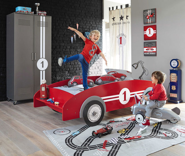 Circuit classic racing car bed at Maisons Du Monde