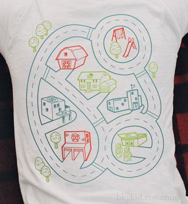 Car Play Mat t-shirt by BKY Kid at Etsy