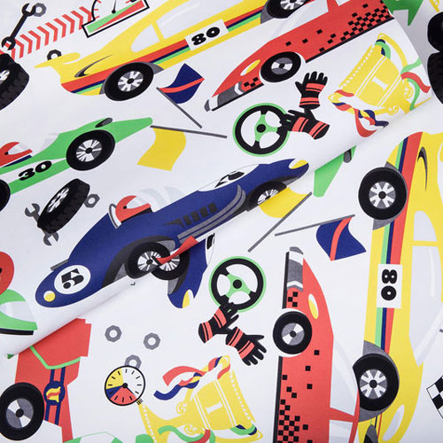 Cars galore! Pit Stop Wallpaper at Graham & Brown