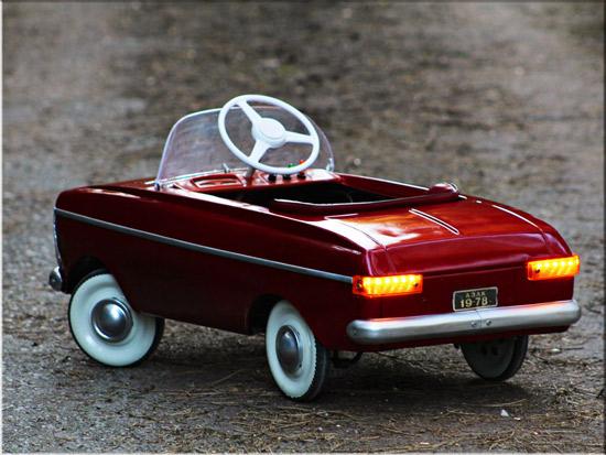 1970s Moskvitch Soviet-era miniature pedal car for kids