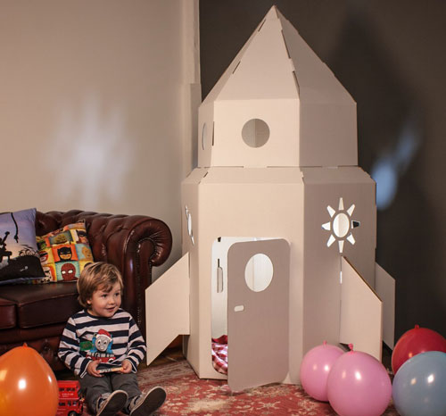 Cardboard Rocket at Firebox