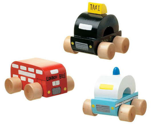 London vehicles wooden toys at the Southbank Centre Shop
