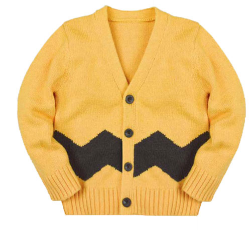 Coming soon: Charlie Brown cardigan at Gap
