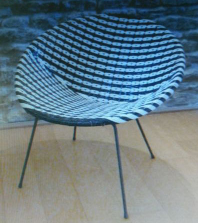 1960s children's woven chair