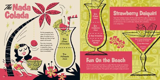 Kiddie Cocktails book by Stuart Sandler - with illustrations by Derek Yaniger