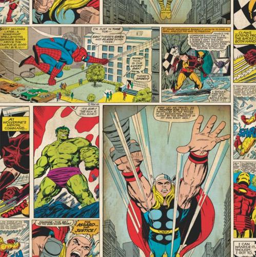 Comic Strip wallpaper at B&Q